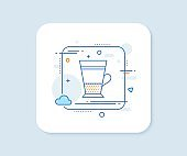 Double Latte coffee icon. Hot drink sign. Vector