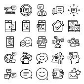 Message and Communication icons. Group chat. Vector