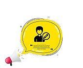 Edit User icon. Male Profile sign. Vector