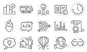 Set of Business icons, such as Copyright, Energy, Target. Vector