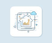 Efficacy line icon. Business chart sign. Vector
