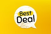Best deal. Special offer sale sign. Vector