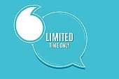 Limited time symbol. Special offer sign. Vector