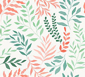 Seamless floral vector pattern. Botanical trendy background.