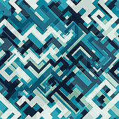blue tech seamless patternblue tech seamless pattern