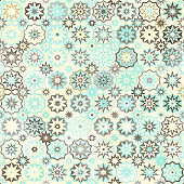 snowflakes vintage seamless pattern