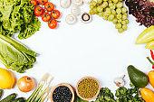 유기농 야채 백그라운드