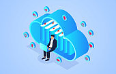 Isometric cloud online education and learning, online reading e-library