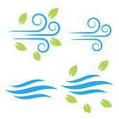 Air icon vector. Air and wind vector icon set. Air fresh vector icon