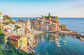 Village on the coast in Italy