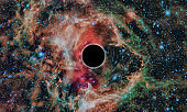 Black hole, space illustration