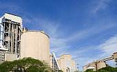 Cement Factory with cloudy sky
