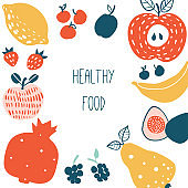 Healthy food card or print design