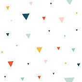 Trendy minimalistic seamless pattern