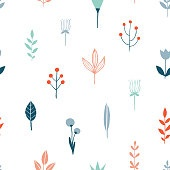 Flower simple minimalist seamless