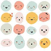 Cute cartoon monsters set