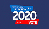 Presidential election vector template. Vote 2020