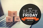 Special offer, big sale on Black Friday concept
