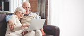 Retirees using social media, browsing internet