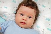 Portrait of cute little baby boy.