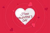 Flat happy valentine's day background design