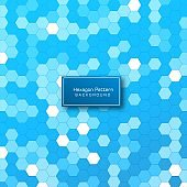 Abstract geometric hexagon pattern background