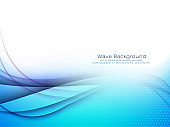 Abstract stylish blue wave background vector design illustration
