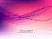 Modern purple wave background vector design illustration