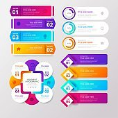 creative steps colorful business infographic template, can be used for presentation, web or workflow diagram layout
