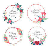 happy Valentine wreath collection design