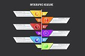 creative steps collection colorful business infographic template