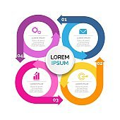 modern Infographic elements & tools business steps infographic template, can be used for presentation, web or workflow diagram layout