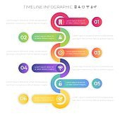 Timeline Infographic tools business template, can be used for presentation, web or workflow diagram layout