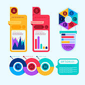 modern Infographic element collection & tools business infographic template, can be used for presentation, web or workflow diagram layout