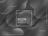 Modern elegant grey color liquid background vector design illustration
