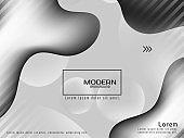 Trendy stylish grey color liquid background vector design illustration