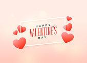 soft valentine's day love background design