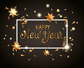 poster of happy new year in frame