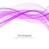 Abstract pink wave stylish background vector design illustration
