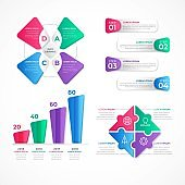 modern steps colorful business infographic template, can be used for presentation, web or workflow diagram layout