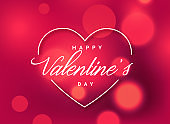 beautiful valentine's day greeting background with bokeh effect