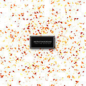Beautiful confetti celebration background