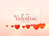 valentine's day card design with hearts background