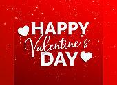 happy valentine's day red background