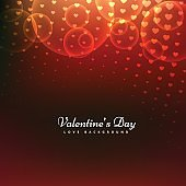 abstract Happy valentines day red hearts background