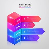 creative steps collection colorful business infographic template, can be used for presentation, web or workflow diagram layout