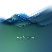 Abstract stylish colorful wave background vector design illustration
