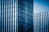"""Close-Up of Modern Office Buildings in city of China""""n"""