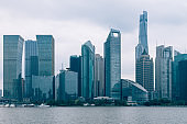 the bund skyline with shanghai world financial center,shanghai,china.