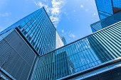 glass architecture of modern building in tokyo